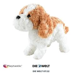 Playtastic Hund: Plüsch-Funktionshund mit Akustik- & Berührungssensoren (Spielzeug Hund mit Funktion) - 1