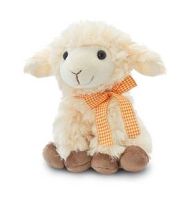 Plüschtier Baby Schaf, Lamm mit Schleife, Keel Toys Kuscheltier sitzend ca. 20 cm - 1
