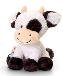 Plüschtier Kuh Daisy, schwarz - weißes Kälbchen, Kuscheltier Pippins ca. 14 cm - 1