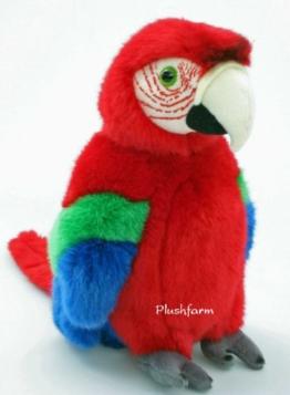 Plüschtier Papagei - rot - 27 cm - 1