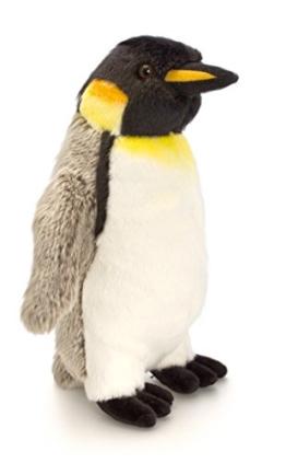 Plüschtier Pinguin grau - weiß, Kaiser Plüschpinguin Keel Toys Kuscheltier Vogel ca. 20 cm - 1