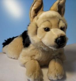 Plüschtier Schäferhund - liegend - 45 cm - 1