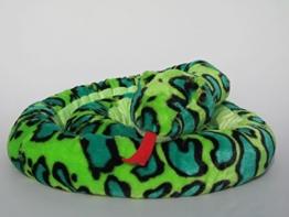 Plüschtier Schlange - grün - 250 cm - 1
