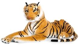Plüschtier Tiger - liegend - braun - 90 cm - 1