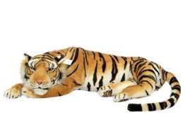 Plüschtier Tiger - ruhend - braun - 85 cm - 1