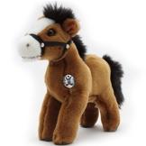 Pony SPIRIT Pferd Isländer Vollblut braun mit Halfter Plüschtier von kuscheltiere.biz - 1