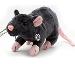 Ratte RÈMY Maus grau 29 cm Plüschratte Plüschmaus von kuscheltiere.biz - 1