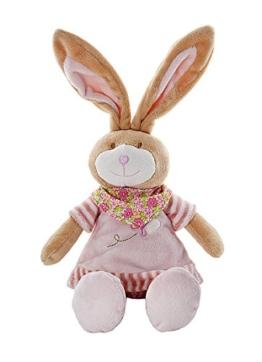 Rosa Stofftier Plüsch Kuscheltier Hase für Neugeborene Baby Mädchen - 1