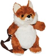 Rucksack Fuchs - Plüsch Kinderrucksack / Plüschtier Tier Tiere - Kinder Kindergartenrucksack - Kindertasche / Mädchen & Jungen - Plüschtiere Füchse Tierrucksack - 1