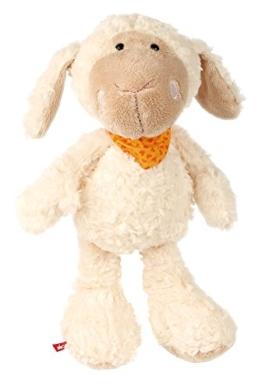 sigikid, Mädchen und Jungen, Stofftier Schaf groß, Emmala, Sweety, Weiß/Orange, 37988 - 1
