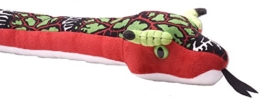 Snakesss Plüschtier Drachenviper, rot grüne Schlange, Kuscheltier ca. 137 cm - 1