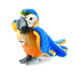 Steiff 063879 - Lori Papagei 26 cm stehend, blau/gelb - 1