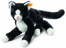 Steiff 099366 - Mimmi Schlenker Katze, 30 cm, schwarz/weiß - 1