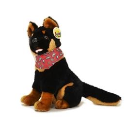 Sunny Toys 30159 - Plüsch Schäferhund mit Tuch, circa  30 cm - 1