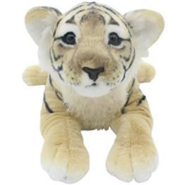 TAGLN Die Dschungel Tiere Gefüllter Plüsch Weiches Spielzeug Kinderkissen (40 CM, Brauner Tiger) - 1