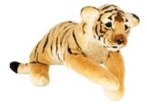 Tiger liegend Plüschtier ca. 60 cm Kuscheltier Softtier Raubkatze Stofftier - 1