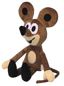 Trullala Plüschfigur Maus, aus der TV-Serie, ''der kleine Maulwurf'', Vollfigur 20 cm - 1