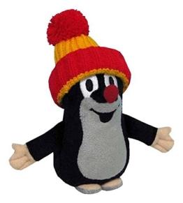 Trullala Plüschtier, Stofftier, der kleine Maulwurf, mit roter Mütze, aus der ''Sendung mit der Maus'' 12 cm - 1