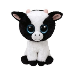 TY 36841 Beanie Boo's Butter Kuh mit Glitzeraugen, 15 cm, schwarz/weiß - 1