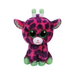 TY 37220 - Gilbert - Giraffe Pluschtier mit Glitzeraugen  Glubschi's  Beanie Boo's, 15 cm, rosa/lila - 1