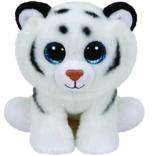 TY 90219 - Tundra - Tiger mit Glitzeraugen, Classic Plüschtier, 33 cm, weiß - 1