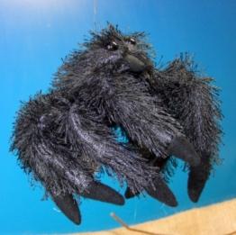 Vogelspinne - Schwarze Witwe Spinne 21 cm Schmusetier Plueschtier Kuscheltier Black Spider - 1