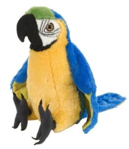 Wild Republic 12248 - Plüsch Macaw Papagei, 30cm - 1