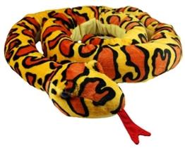 XXL Schlange super weich 254 cm Plüschtier Kuscheltier Stofftier Plüsch Boa Cobra Python Anakonda Spielzeug auch als Zugluftstopper geeignet - Gelb - 1