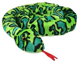 XXL Schlange super weich 254 cm Plüschtier Kuscheltier Stofftier Plüsch Boa Cobra Python Anakonda Spielzeug auch als Zugluftstopper geeignet - grün - 1