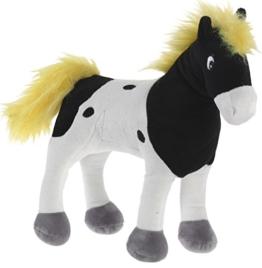 Yakari 639775 - Pferd, Donner stehend, klein, 30cm, schwarz/weiß - 1