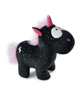 Nici 41418 Theodor and Friends Kuscheltier Einhorn Carbon Flash, 22 cm - 1