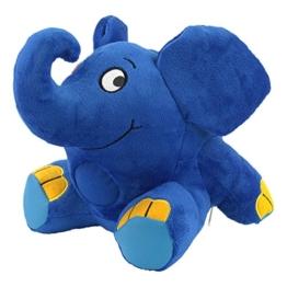ANSMANN LED Nachtlicht Elefant Kuscheltier inkl Batterien - Die Sendung mit der Maus - Einschlafhilfe zum Kuscheln mit Musik Funktion - Kuschelweiches 2in1 Plüschtier für Baby & Kind im Kinderzimmer - 1