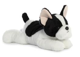 Aurora, 31574, Flopsies Franz. Bulldoge, Plüschtier, 30cm, schwarz/weiß - 1