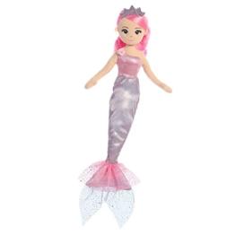 Aurora, 74450 33250, Meeresschimmer Prinzessin Lavendel Meerjungfrau, 45,7 cm, weiches Spielzeug, Rosa und Silber, Mehrfarbig - 1