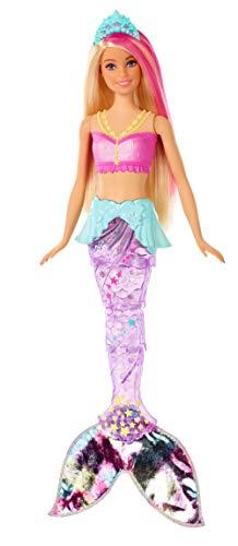 Barbie GFL82 - Dreamtopia Glitzerlicht Meerjungfrau mit blonden Haaren, Flosse mit Schwimmbewegungen und Licht, Spielzeug für die Badewanne, Puppen ab 3 Jahren - 1
