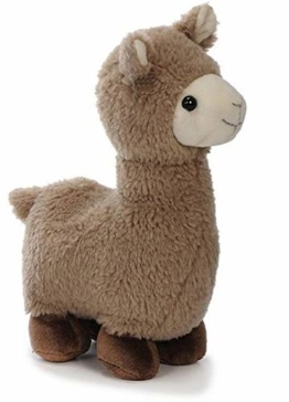 Bavaria Home Style Collection -Lama Alpaka - 27cm - Farbe Braun oder Beige - Plüsch, Plüschtier, Plüschlama, Kuscheltier , Kuscheltier für Kinder Spielzeug (braunes Alpaka Lama) - 1