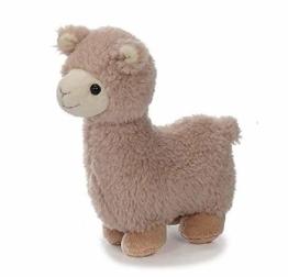 Bavaria Home Style Collection Lama Alpaka - ca 20 cm - Farbe Braun oder Beige - Plüsch, Plüschtier, Plüschlama, Kuscheltier , Kuscheltier für Kinder Spielzeug (beige) - 1