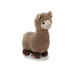 Bavaria Home Style Collection Lama Alpaka - ca 20 cm - Farbe Braun oder Beige - Plüsch, Plüschtier, Plüschlama, Kuscheltier , Kuscheltier für Kinder Spielzeug (braun) - 1