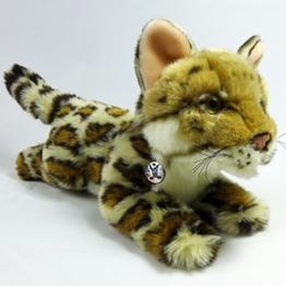Bengalkatze BACCARDI Ozelot Serval 31 cm liegend Plüschtier Plüschkatze Wildkatze Kuscheltier - 1