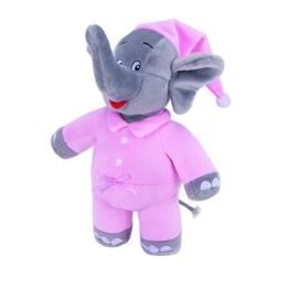 Benjamin Blümchen Kuscheltier Schlummer-Elefant mit Sound 10844 , weiche Plüschfigur mit original Stimme, ca. 22 cm groß von Jazwares - 1
