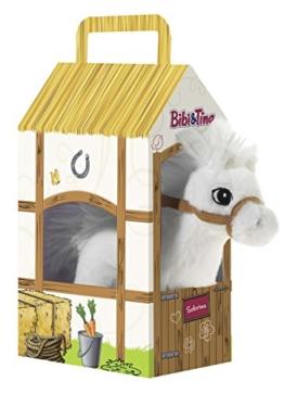 Bibi & Tina 636873 636873-Pferd Sabrina stehend im Stall Plüschtier, weiß - 1