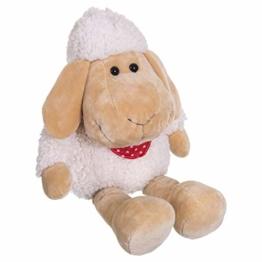 Bieco Plüsch Schaf Polly   ca. 50 cm   XXL Kuscheltier   Baby Kuscheltiere   Baby Spielzeug   Kuscheltier Baby   Baby Einschlafhilfe   Kuscheltiere für Babys   Stofftier Baby   Kuscheltier Schaf - 1