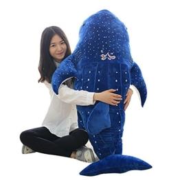 Bonways 75cm großes, süßes, superweiches Plüschkissen, gefüllt, Wal, Hai, Delphin, für Kinder oder als Geschenk für einen lieben Menschen. - 1