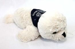 CAGO Seehund Robbe FLAPSCH superweiches Plüschtier mit Halstuch Moin Moin (26 cm, Beige) - 1
