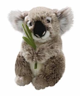 Carl Dick Koala Bär mit Blatt aus Plüsch ca. 16cm 3317 - 1