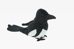 Cornelißen Stofftier Elster 14 cm, Kuscheltier Plüschtier Vogel Vögel Gartenvogel - 1