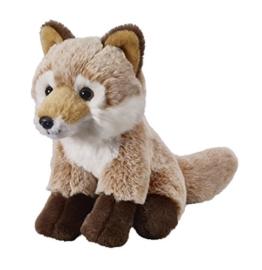 Deine Tiere mit Herz Bauer Spielwaren Fuchs: Kleines Kuscheltier zum Kuscheln und Liebhaben, ideal als Geschenk, 18 cm, hellbraun (12507) - 1