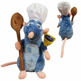 Disney Ratatouille - Remy Plüsch mit Kochmütze und Löffel 33 cm Superweiche Qualität - 1