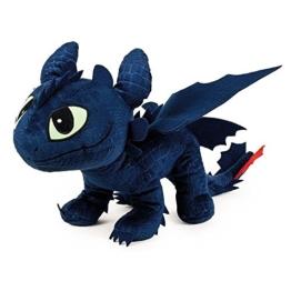 Drachenzähmen leicht gemacht - Dragons - Plüsch Figur Kuscheltier Drachen Ohnezahn Toothless 40x12x32 cm - 1