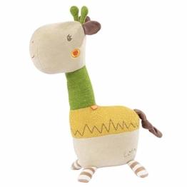 FEHN 059205 Kuscheltier Giraffe XL / Spielgefährte, Beschützer & Kuschelfreund: Großes Stofftier zum Greifen, Fühlen und Knuddeln, für Babys und Kleinkinder ab 0+ Monaten - 1